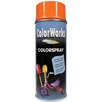 Colorworks - Peinture aérosol brillante orange - 400 ml