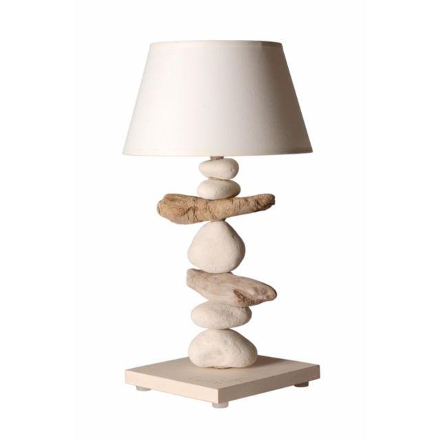 bo time lampe de chevet bord mer en bois galets personnalisable fabriqu la main en france. Black Bedroom Furniture Sets. Home Design Ideas