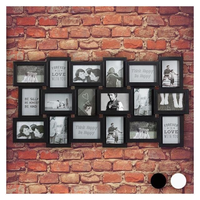 Totalcadeau Cadre-photos Xxl pour 18 photos pêle-mêle Couleur - Blanc