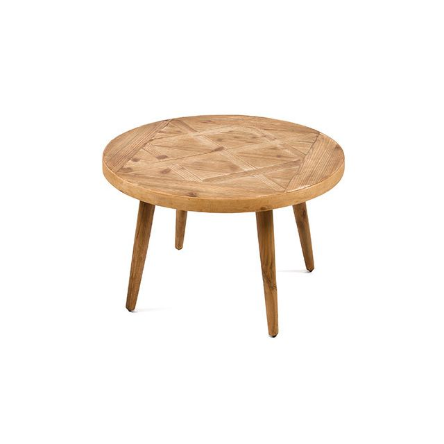 Table basse en bois naturel 70x70x45cm