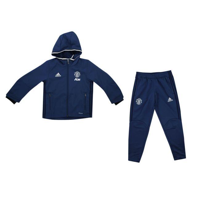 837d216c28327 Adidas performance - Survêtement Manchester United Bleu Junior - pas ...