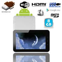 Tablette tactile Android 4.0 7 pouces capacitif 3D Hdmi 1Go Ram 8 Go