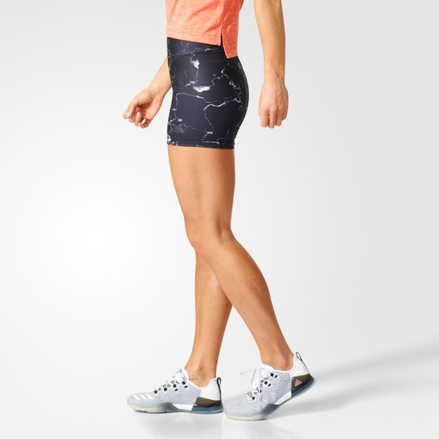 Adidas - Short femme Marble High-Waisted - pas cher Achat   Vente  Pantalons 7071dfd4ecc