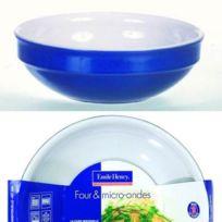 Emile Henry - Coupe ronde Gourmet 18 cm bleu Fleur De Sel
