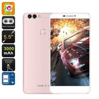 Yonis - Smartphone 4G 5.5 Pouces Android 6.0 1080P Double Caméra 16Go Or Rose