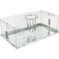 Masy - Piège à souris à fond métal - Long.18 cm - Larg.10 cm - Haut.7 cm