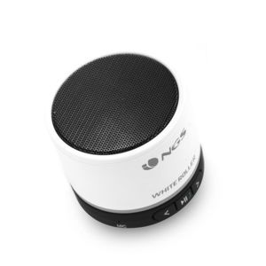 ngs technology mini enceinte bluetooth 5 w roller blanche pas cher achat vente enceinte. Black Bedroom Furniture Sets. Home Design Ideas