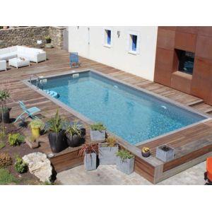 sunbay piscine bois rectangulaire evora 6 00 m x 4 00 m x h 1 33 m pas cher achat vente. Black Bedroom Furniture Sets. Home Design Ideas