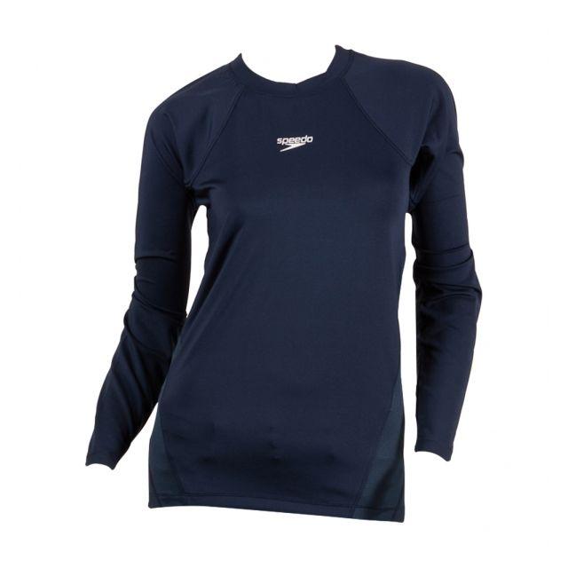 Speedo - Tee-Shirt Manches Longues Femme Bleu marine - pas cher ... 7ffd9796d1d3