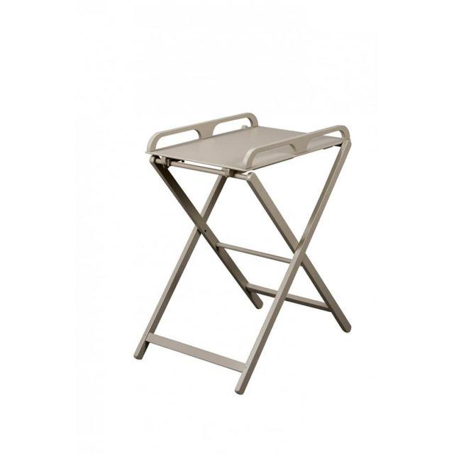 Combelle - Table à langer pliante Jade laqué gris clair