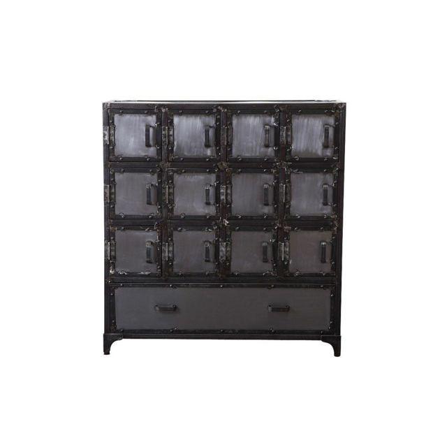 miliboo commode meubles chaussures industriel m tal factory xl pas cher achat vente. Black Bedroom Furniture Sets. Home Design Ideas