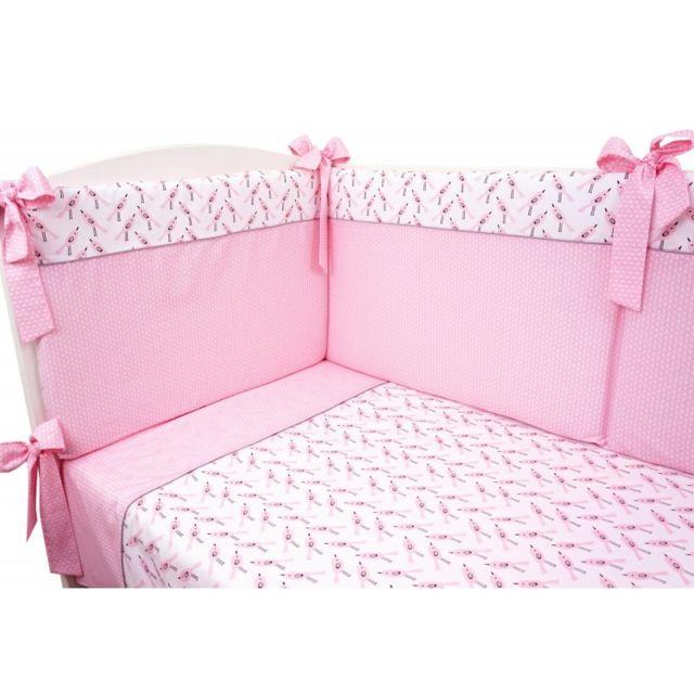 sevira kids parure de lit b b avec tour de lit design r versible alouette pas cher achat. Black Bedroom Furniture Sets. Home Design Ideas