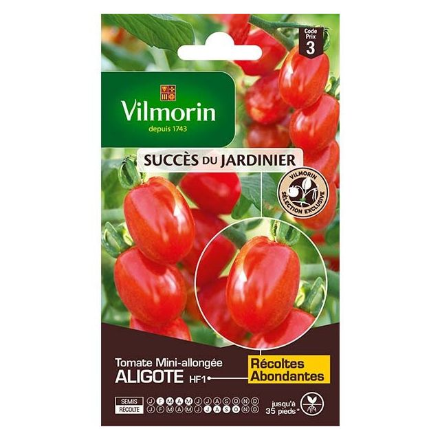 vilmorin sachet graines tomate aligote hf1 pas cher. Black Bedroom Furniture Sets. Home Design Ideas
