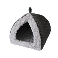 Vadigran - Tipi fleece Modern gris pour chien 40 x 40 x 35cm