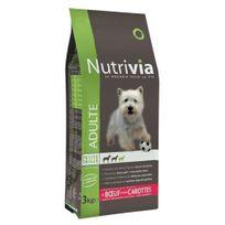 Nutrivia - Croquettes au Bœuf et Carottes pour Chien Adulte de Petite Taille - 3Kg