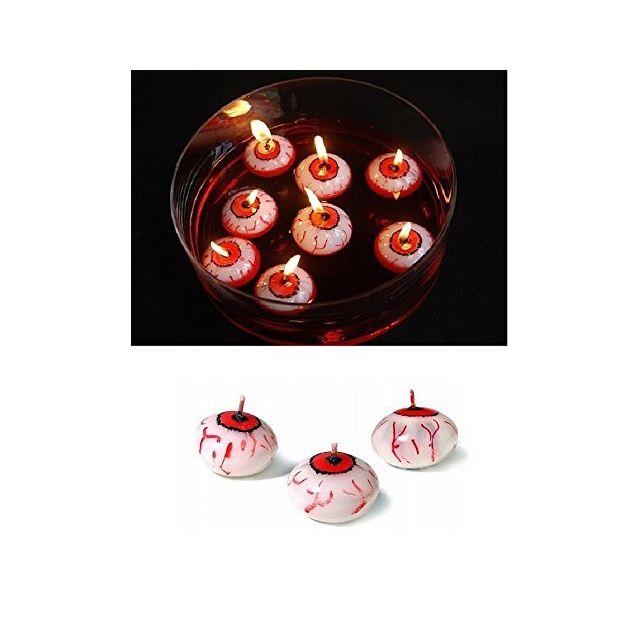 Sans Lot 10 Bougie Flottante Oeil Globe Occulaire 4cm Decoration