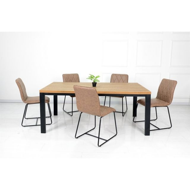 Price Factory Ensemble Une Table 180 Cm Aaron 6 Chaises Lea