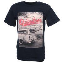 Quiksilver - Tee shirt manches courtes Surf create nv mc tee Bleu 52675