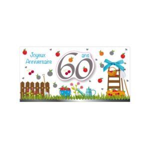 Marque generique carte anniversaire 60 ans pas cher achat vente cartes de voeux - Voeux anniversaire 60 ans ...
