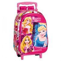 Princesses Disney - Sac à dos à roulettes maternelle Princesse Disney Stars 37 Cm trolley - Cartable