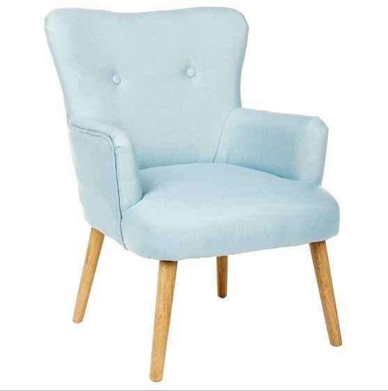 IntÉRIEUR Discount Fauteuil design scandinave bleu Mitt L.59.5cm