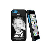Eleven Paris - Coque Dewey Noire Toucher Gomme Pour Apple Iphone 5c