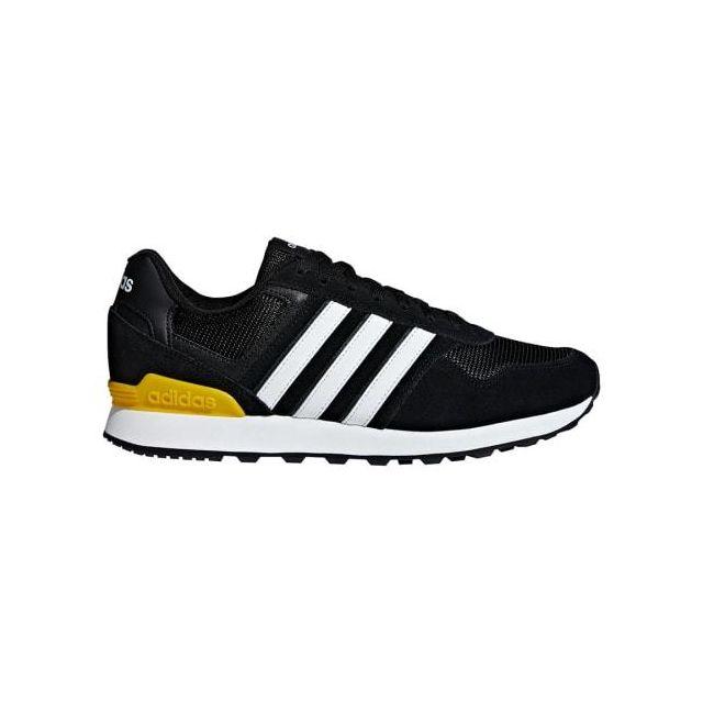 Adidas Chaussures neo 10K noir blanc jaune pas cher