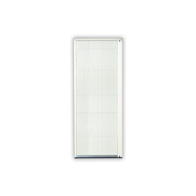empasa moustiquaire coulissante porte master pliss e alu l160 x h240 cm gris sans d coupe. Black Bedroom Furniture Sets. Home Design Ideas