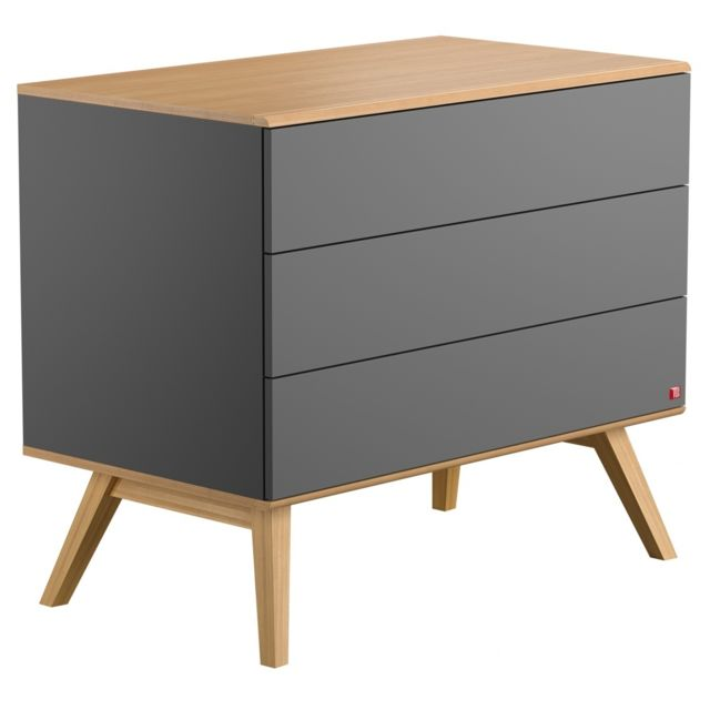 Vox Commode 3 tiroirs Nature