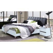 Price Factory - Ensemble Lit adulte 160x200 cm + Tête de lit + chevets +  sommier 0a49243b80e5