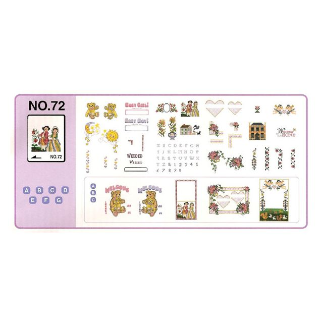 BROTHER Carte de broderie n°72 pour