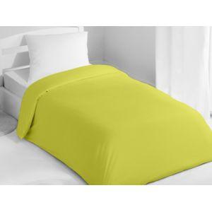 soleil d 39 ocre housse de couette 140x200 cm coton uni vert pas cher achat vente housses de. Black Bedroom Furniture Sets. Home Design Ideas