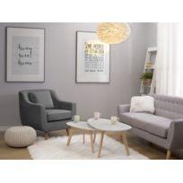 Beliani - Fauteuil en tissu gris clair Arendal