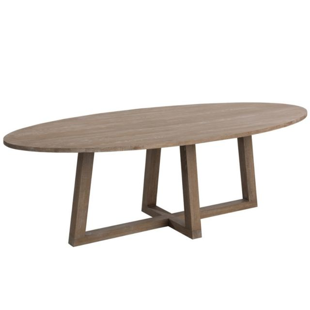 HELLIN TABLE OVALE BOIS MOKA 280 CM