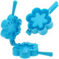 Promobo - Emporte pièce Fabrique à Chausson Moule Cuisine Forme Fleur Bleu