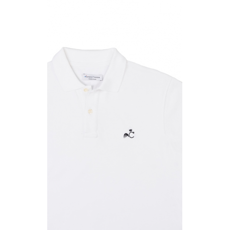 Comptoir Tricolore Polo l'Opéra - Polo homme Blanc - Made in France