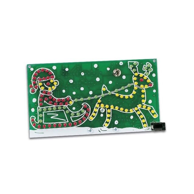 Perel Père noël lumineux animé existe aussi en version montée: Mmk116 alimentation: 9 à 12Vcc ou pile alcaline 9V (non incl. ) dimensions: 80 x 145mm adaptateur réseau recommandé: Psse1205