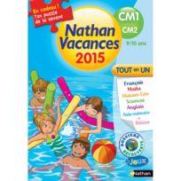 Nathan - Cahier de vacances Primaire : Du Cm1 vers le Cm2 Vacances 2015 Tout en un