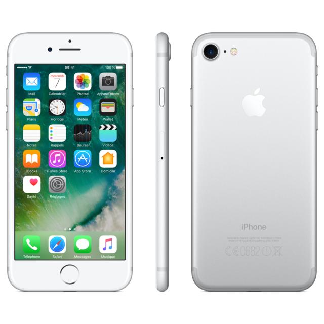 destockage apple iphone 7 128 go argent reconditionn pas cher achat vente smartphone. Black Bedroom Furniture Sets. Home Design Ideas