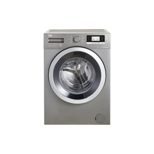 beko lave linge hublot wtv8734xc0m grey achat lave linge hublot. Black Bedroom Furniture Sets. Home Design Ideas