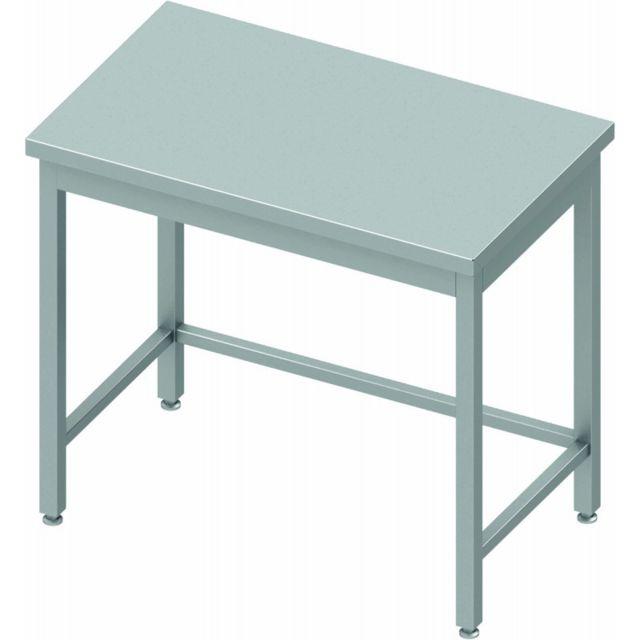 Materiel Chr Pro Table Inox Centrale Professionnelle - Sans Etagère - Profondeur 800 - Stalgast - inox 400x800 800