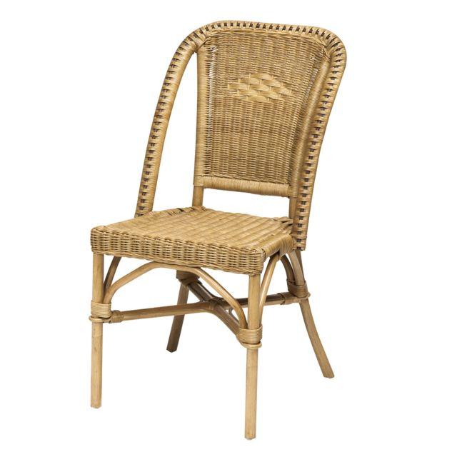rotin design chaise selva miel en osier fitrit pas cher achat vente chaises rueducommerce. Black Bedroom Furniture Sets. Home Design Ideas