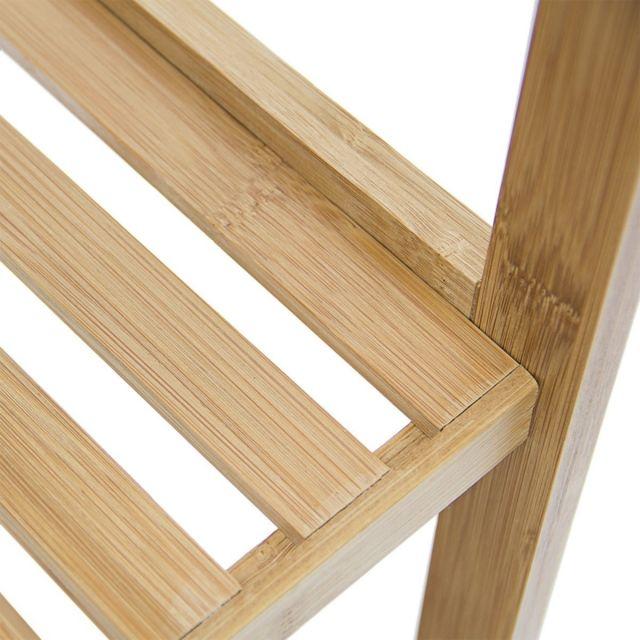 Helloshop26 - Étagère en bambou pour salle de bain 79 x 33 cm 3213036 Noir