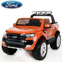 Ford - Nouvelle Ranger écran Lcd 2X12V voiture quad 4x4 électrique enfant orange métal pack luxe Edition 2017