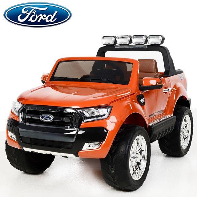 ford nouvelle ranger cran lcd 2x12v voiture quad 4x4 lectrique enfant orange m tal pack luxe. Black Bedroom Furniture Sets. Home Design Ideas