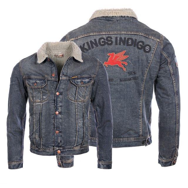 tout neuf a492f 2b9ba Kaporal 5 - Kaporal homme - Veste en jeans fourrée King ...