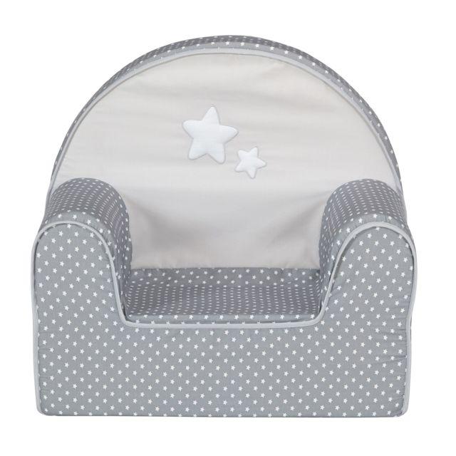 alin a doux r ve fauteuil club gris et blanc pour enfant. Black Bedroom Furniture Sets. Home Design Ideas