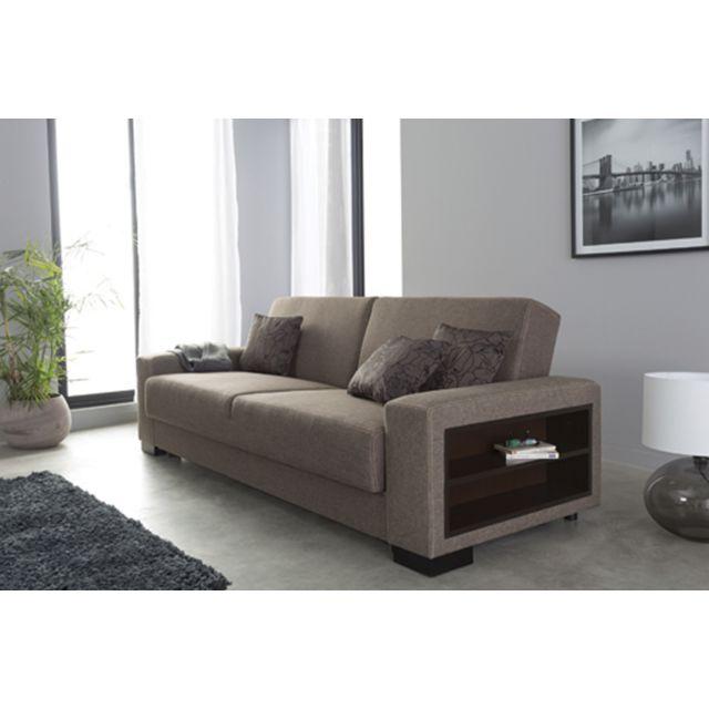 Sofa Story - Canapé convertible Escalade Brun