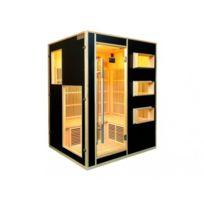 Vogue Sauna - Sauna Infrarouge 3/4 places Gamme prestige Mikeli Iii - L150 P130 H190cm - 2250W - Noir