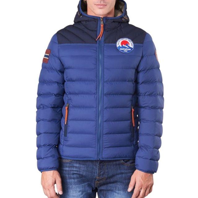 Napapijri - Doudoune Articage Bleu - pas cher Achat   Vente Doudoune homme  - RueDuCommerce b9d4e5defbe